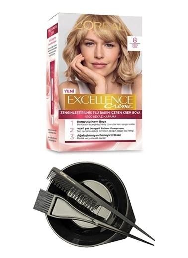 L'Oréal Excellence Creme 8 + Saç Boyama Seti Renksiz